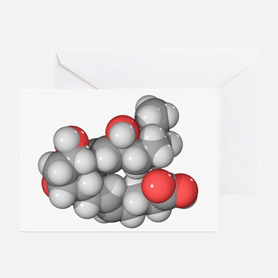 Prostaglandin F2a molecule - Greeting Cards (Pk of