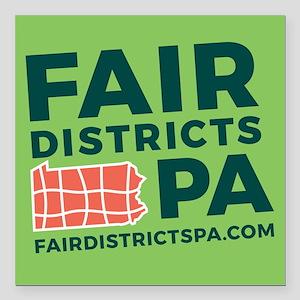 "Fair Districts PA Square Car Magnet 3"" x 3"""