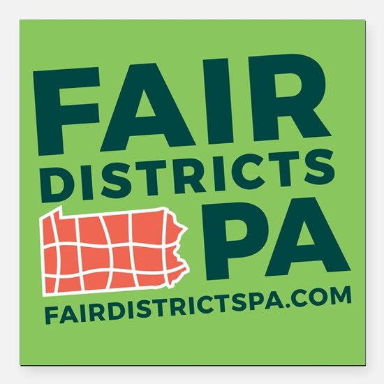 "Fair Districts PA Square Car Magnet 3"" x 3"""
