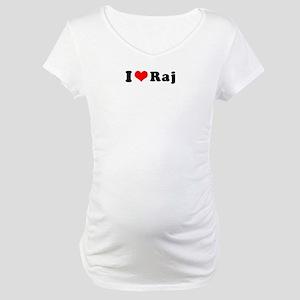 I Heart Raj Maternity T-Shirt