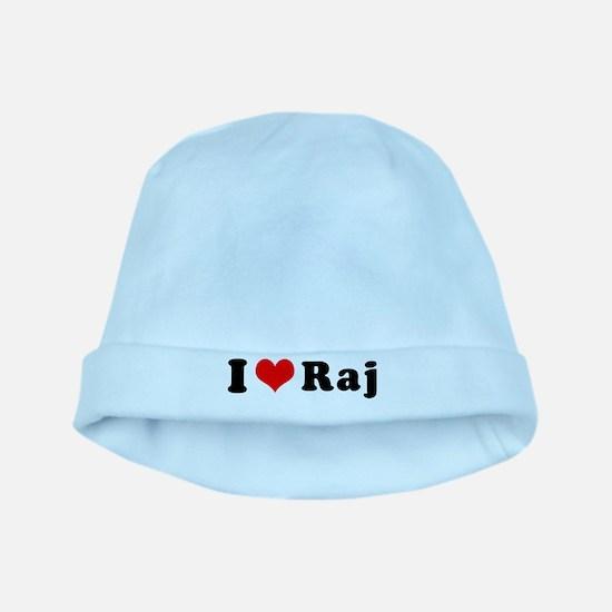 I Heart Raj baby hat