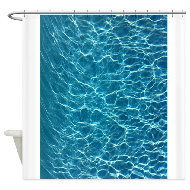 Cool Pool Water Shower Curtain by LuverlyCreations
