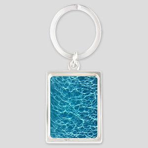Cool Pool Water Portrait Keychain
