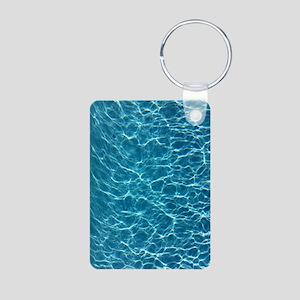 Cool Pool Water Aluminum Photo Keychain