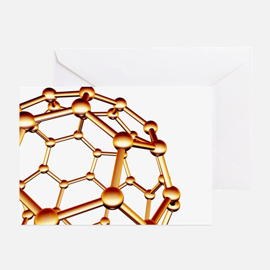Buckminsterfullerene molecule - Greeting Cards (Pk