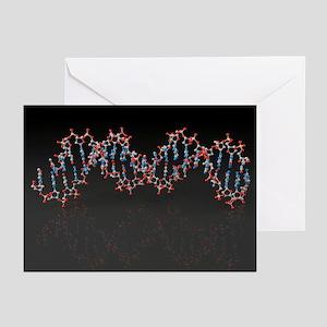 DNA molecule, artwork - Greeting Cards (Pk of 20)