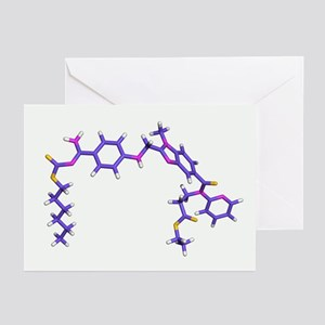 Dabigatran etexilate drug molecule - Greeting Card