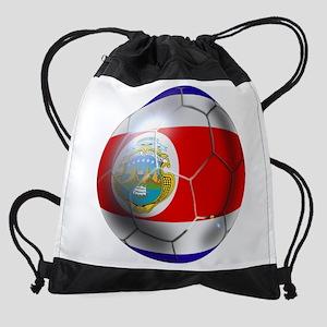 Costa Rica Soccer Ball Drawstring Bag