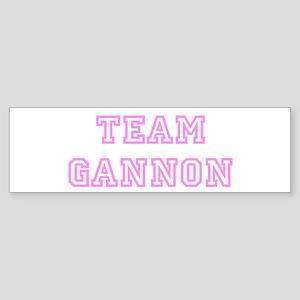 Pink team Gannon Bumper Sticker