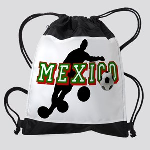 Mexican Soccer Player Drawstring Bag
