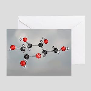 Glucose sugar molecule - Greeting Cards (Pk of 20)