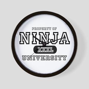 Ninja University Property Wall Clock