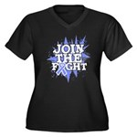 Join Fight Stomach Cancer Women's Plus Size V-Neck