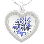 Join Fight Stomach Cancer Silver Heart Necklace