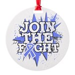 Join Fight Stomach Cancer Round Ornament