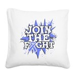 Join Fight Stomach Cancer Square Canvas Pillow