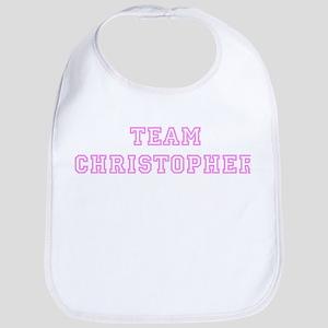 Pink team Christopher Bib