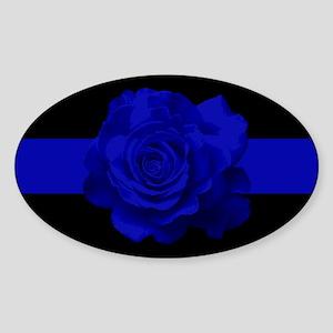 PoliceWives Blue Rose Blueline Sticker