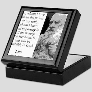 The Hero Of My Tale - Leo Tolstoy Keepsake Box