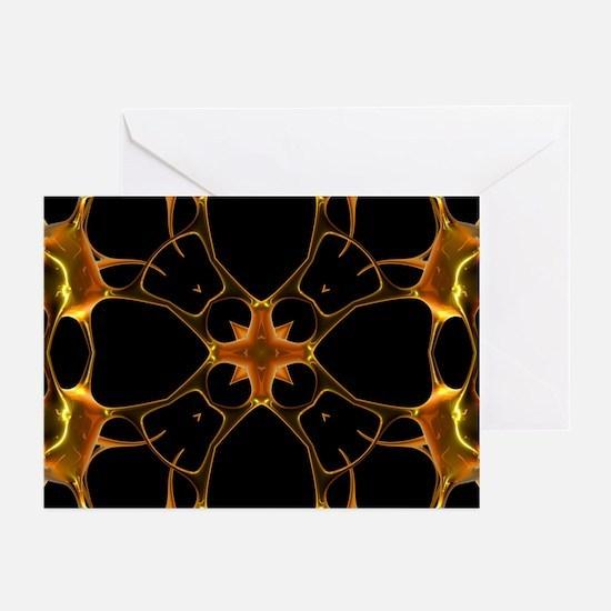 Neurons, kaleidoscope artwork - Greeting Cards (Pk