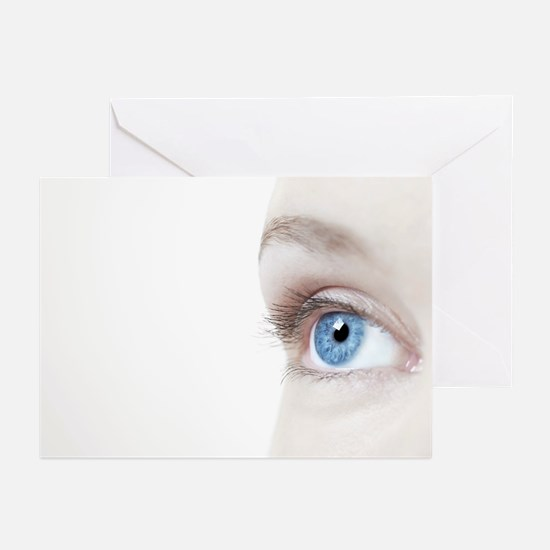 Woman's eye - Greeting Cards (Pk of 20)