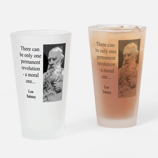 There Can Be Only One - Leo Tolstoy Drinking Glass