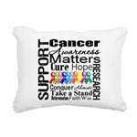 Support All Cancers Rectangular Canvas Pillow