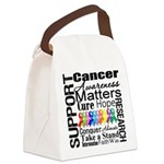 Support All Cancers Canvas Lunch Bag