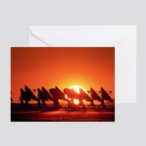 Very Large Array antennae - Greeting Cards (Pk of