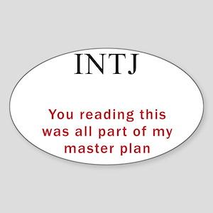INTJ Plan Sticker (Oval)