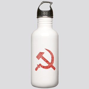 Hammer and Sickle Red Splatter Stainless Water Bot