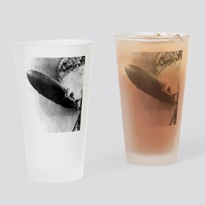 Burning Zeppelin Drinking Glass