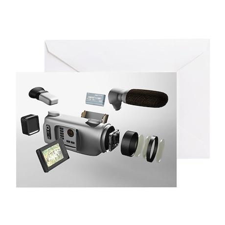 Video camera parts, computer artwork - Greeting Ca