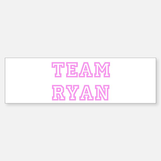 Pink team Ryan Bumper Bumper Stickers