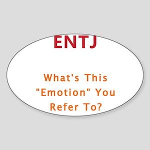ENTJ Emotion Sticker (Oval)