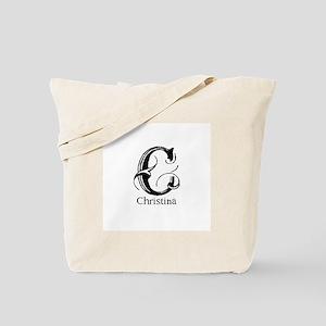 Christina: Fancy Monogram Tote Bag