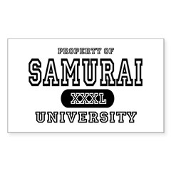 Samurai University Property Rectangle Decal
