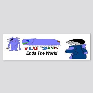 Flu Bug Ends The World Sticker (Bumper)