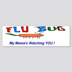 Flu Bug and Mama Sticker (Bumper)