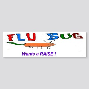 Flu Bug RAISE Sticker (Bumper)