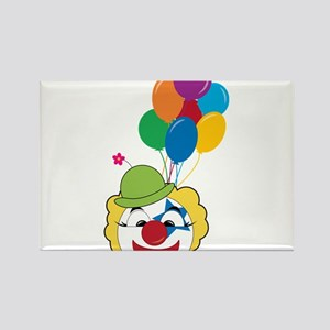 Clown With Balloons Rectangle Magnet