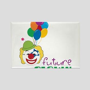 Future Clown Rectangle Magnet