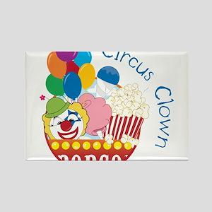 Circus Clown Rectangle Magnet