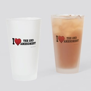 2nd amendment Drinking Glass
