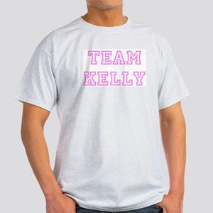 Pink team Kelly Ash Grey T-Shirt