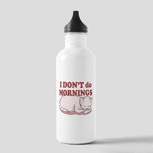 I Dont Do Mornings Cat Stainless Water Bottle 1.0L