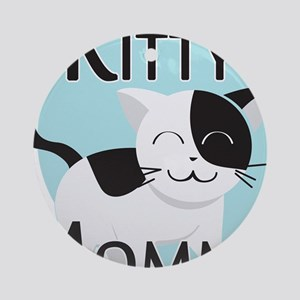 Kitty Mommy Cute Cat Ornament (Round)