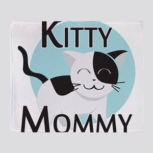 Kitty Mommy Cute Cat Throw Blanket