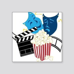 "Movie Lover Square Sticker 3"" x 3"""
