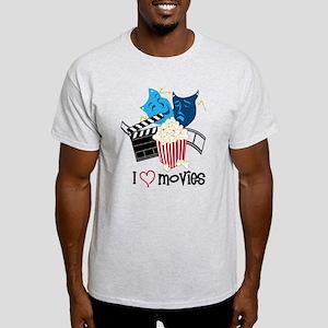 I Love Movies Light T-Shirt